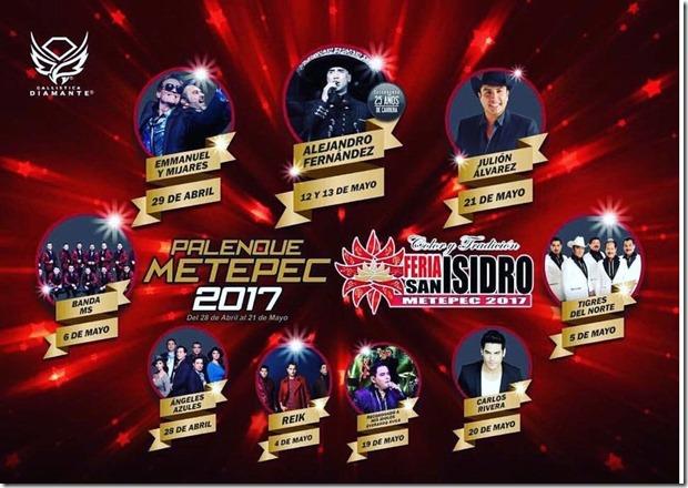 Venta de boletos Palenque Feria de Metepec 2017