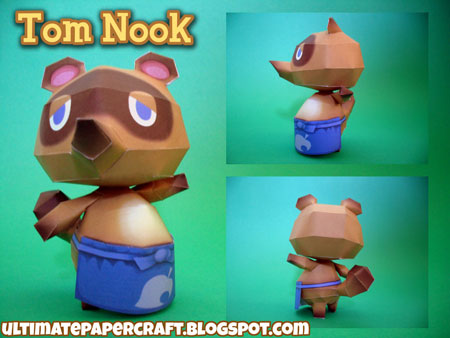 Animal Crossing Tom Nook Papercraft