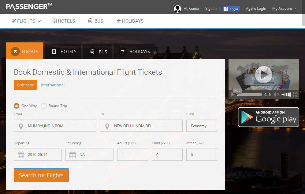 Cheap Flight Ticket Booking, Bus, Hotel, Holidays- screenshot