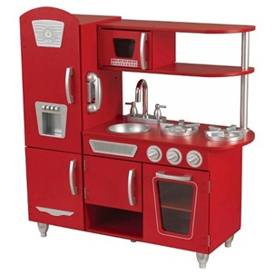 kidcraft red vintage kitchen