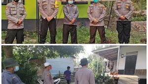 Lockdown Kantor Desa Jati Emas Polres Tanjabbar Lakukan Tracking dan Kedisiplinan Prokes