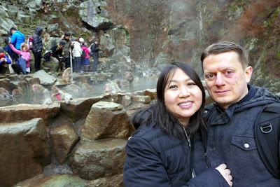 Us at Jigokudani Monkey Park in December 2015