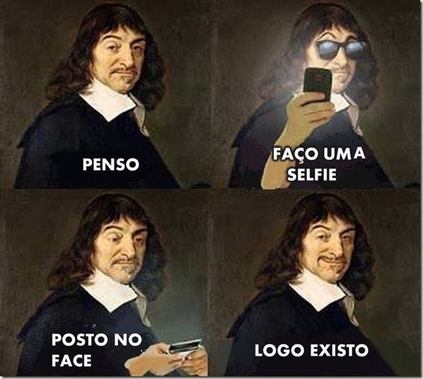 descartes faz uma selfie penso logo existo