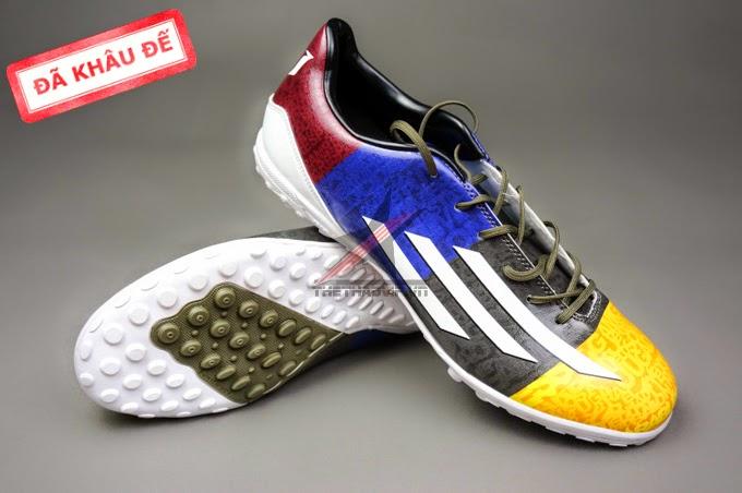 bán buôn giày bóng đá F50 messi Xanh Xám Vàng TF