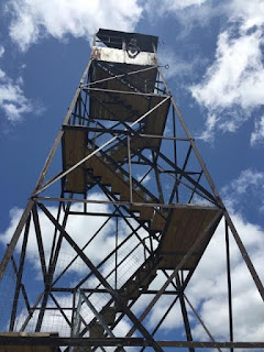 Firetower on Hurricane with restored staircase. (J. Vickers)