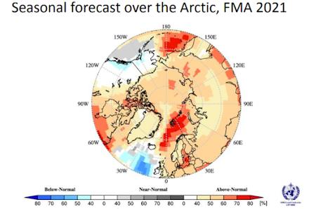 WMO : Προβλέψεις για καλοκαίρι θερμότερο από το κανονικό στην Αρκτική