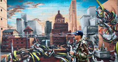 Photo: Un mur, un autre monde ! A wall, another world !  It has been a long time since I haven't put here of painted wall, here is a photo made in NY. Wish you a nice sunny sunday all G+friends :)  For #streetartsunday (by +Luís Pedro+Peter Tsai+Mark Seymour)