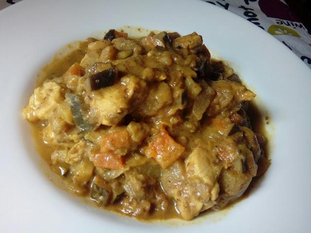 Pavo con verduras al Ras el Hanout