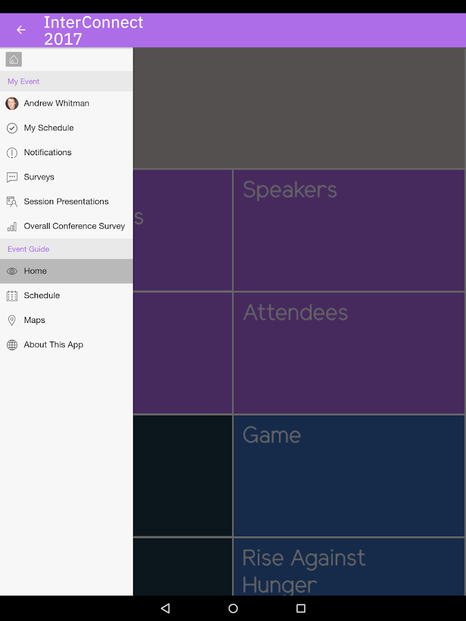 IBM Events- screenshot