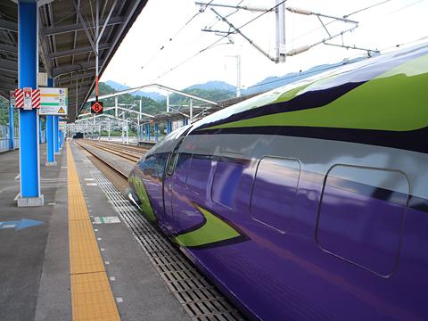 JR西日本 山陽新幹線「こだま741号」500 TYPE EVA 新岩国駅にて その2
