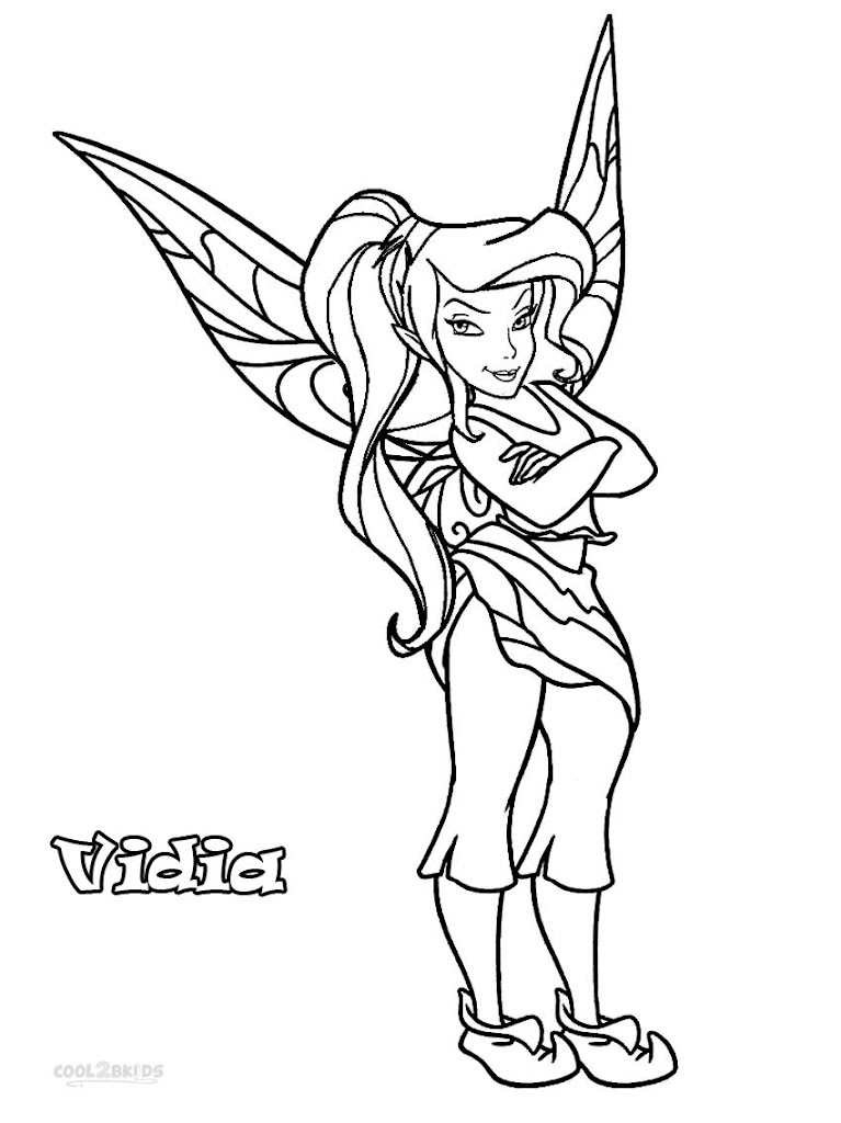 Best hd disney fairies coloring pages design coloring for Vidia fairy coloring pages