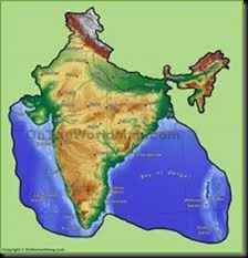 Indian physical map