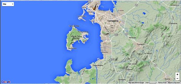 Cartegena Large Map