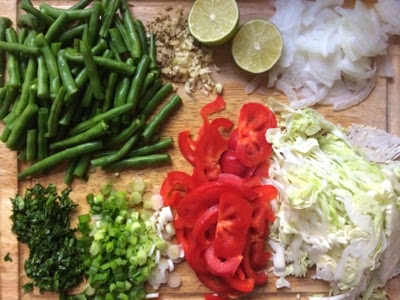 healthy ingredients for a stir fry