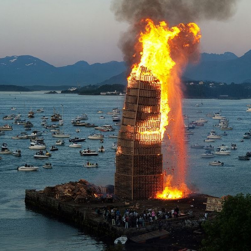 St John's Eve Bonfire in Alesund