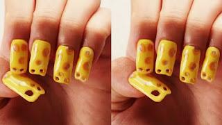 Ce nail art inspiré du gruyère ne va pas aider ceux qui aiment se ronger les ongles