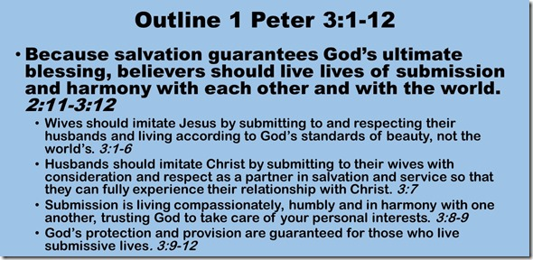 Outline 1 Peter 3.1-12