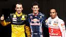 Top 3 qualifiers: 1. Webber, 2. Kubica, 3. Hamilton