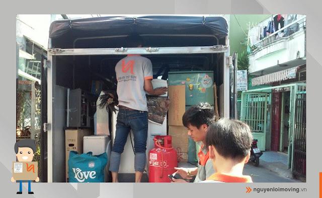 xe tải 1 tấn chuyển nhà