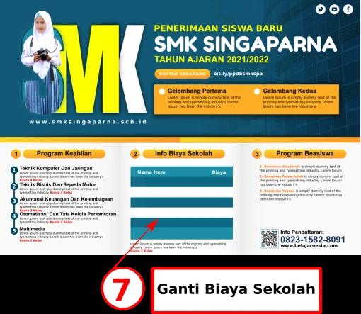 Download Brosur Sekolah SMK Comp CorelDraw Gratis