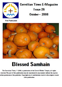 Cover of Correllian Times Emagazine's Book Issue 26 October 2008 vol 1 Blessed Samhain
