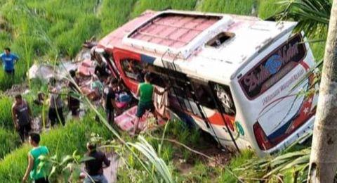 Bus Rombongan Pesta Nikah Kecelakaan di Pasaman, Seorang Meninggal Dunia