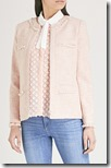 Claudie Pierlot pale pink tweed jacket