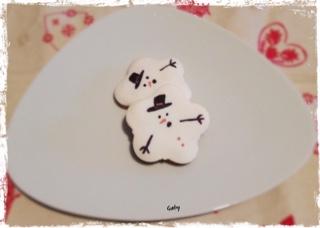biscotti alla panna decorati pupazzo di neve