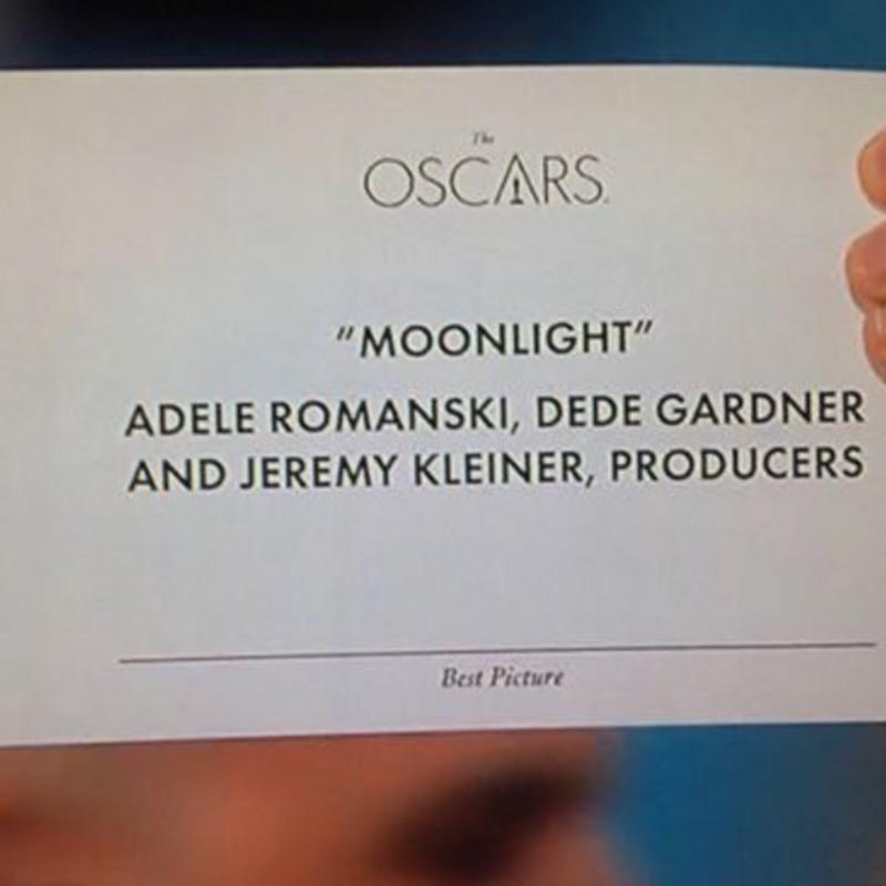 El error de diseño de los sobres de los Oscar
