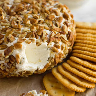 Festive Cheese Ball with DIY Ranch Seasoning.