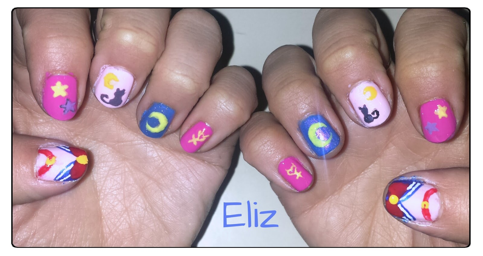 Nail Art Concepción Uñas Sailor Moon