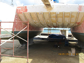 glass on sb keel repaired (2)