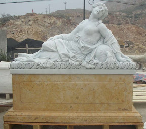 Female, Figure, Interior, Marble, Natural Stone, Pedestal, Statues