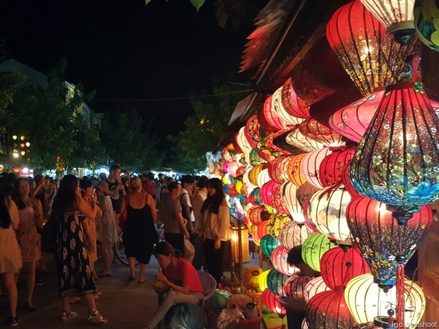 Lanterns for sale at the entrance to the Hoi An Night Market