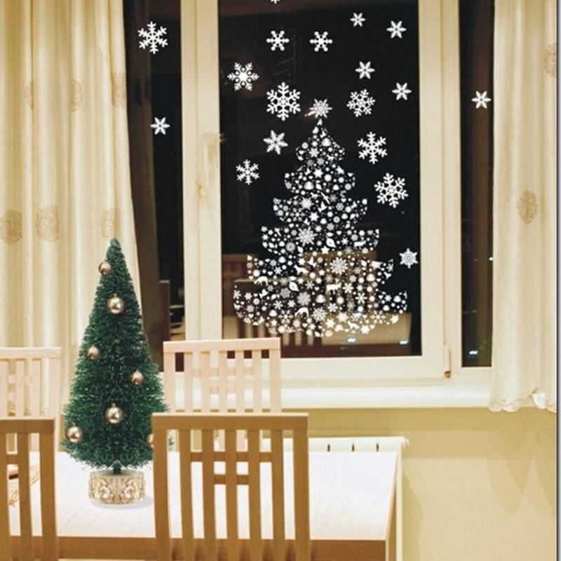 Navidad, plantillas para decorar ventanas