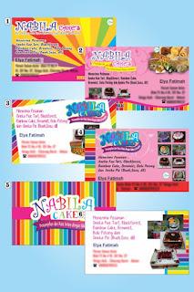 Jasa Desain dan Cetak Kartu Nama Rainbow Cake | Rezky Desain