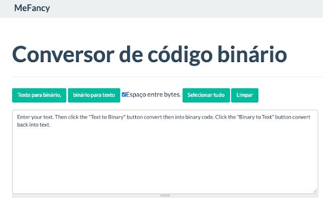 Conversor de código binário