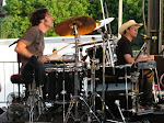 Double Ken Tondre rocks with Kevin Fowler...he hits his cymbal so hard it's gone all floppy