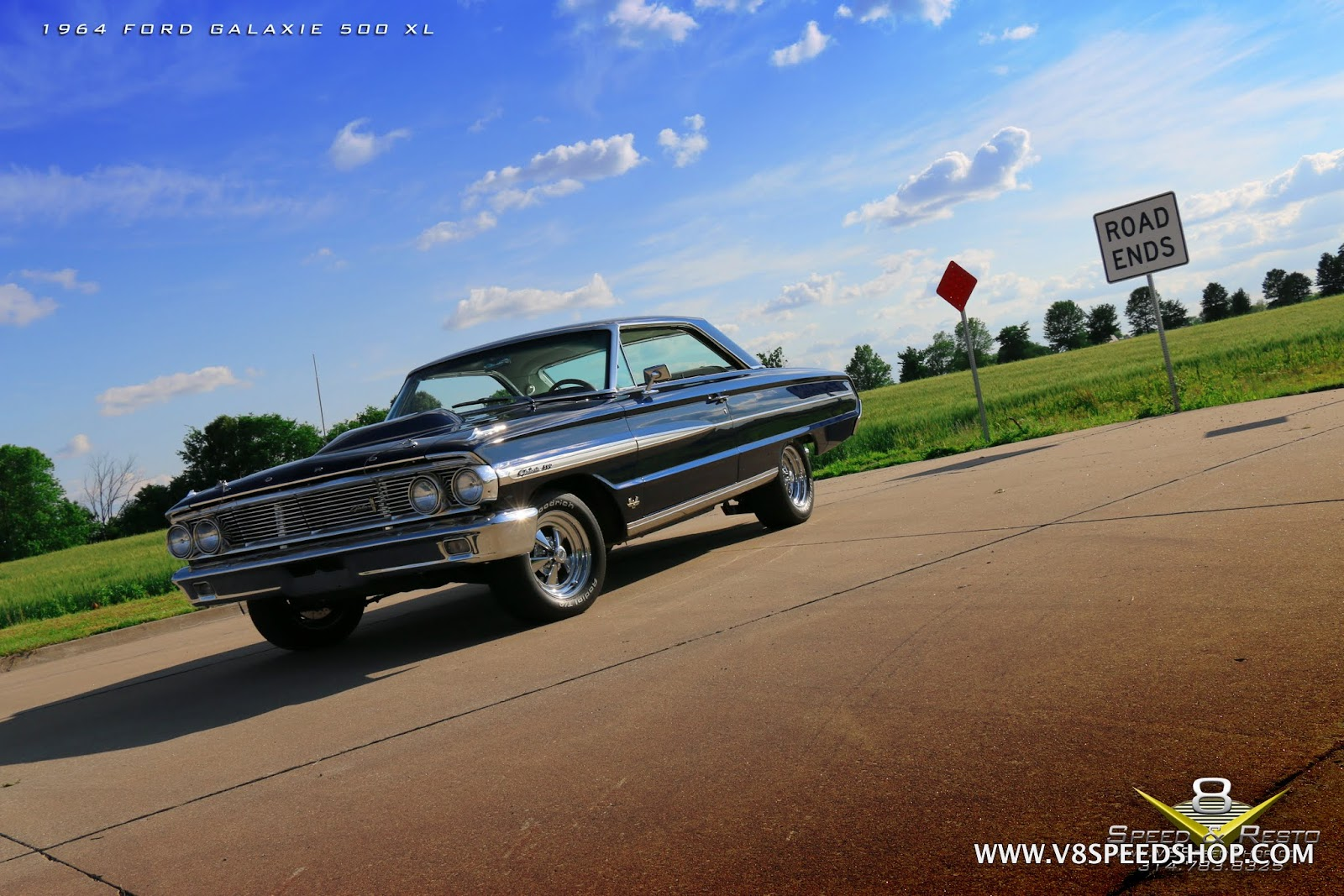 1964 Ford Galaxie 500 XL Bodywork And Paint At V8 Speed & Resto Shop