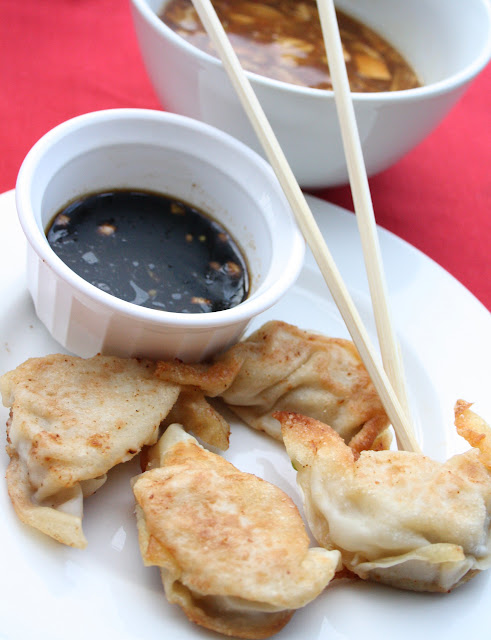 Chicken Pot Stickers for Chinese New Year