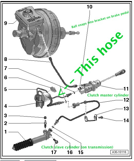 teardown and replacement notes  s5 mt6 hydraulic clutch