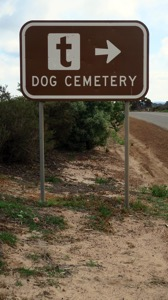Dog Cemetery Sign