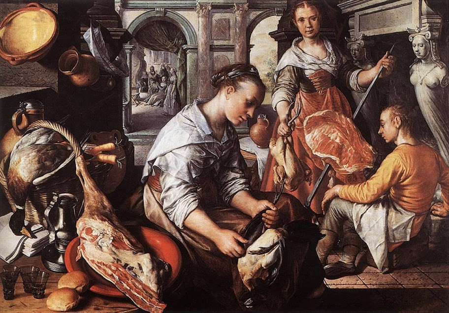 Joachim Beuckelaer - Christ in the House of Martha and Mary
