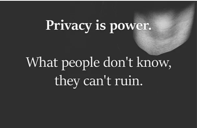 Six important things you should always keep private and some good reasons why.