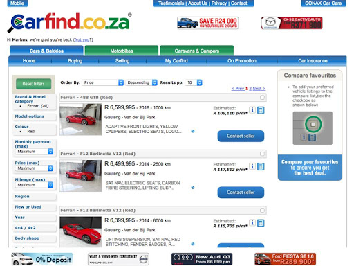 Carfind.co.za - Cars for Sale Screenshot