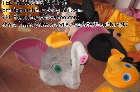 mascot con voi bay tai hồng đáng iu ^^