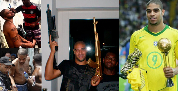 Remember Brazilian Football Star Player Adriano? Well He Has Squandered All His Money And Is Now A Drug Dealer (Photos)
