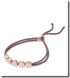 Monica Vinader Rose Gold Vermeil and Woven Bracelet