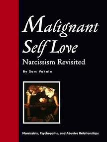 Cover of Shmuel Vaknin's Book Malignant Self Love Narcissism Revisited