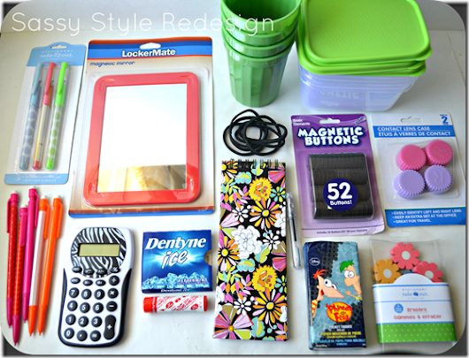 Image: Sassy Style: DIY Back to School ideas-Locker accessories